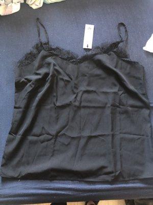 AJC Top z cienkimi ramiączkami czarny