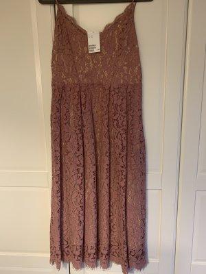 H&M Kanten jurk stoffig roze