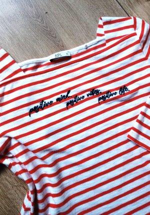edc by Esprit Stripe Shirt white-red
