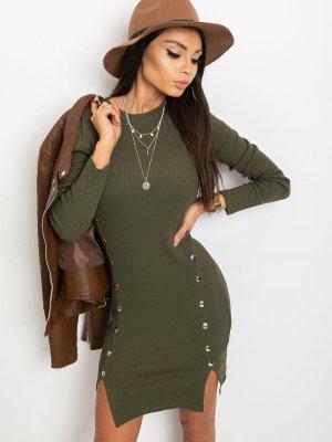 Stretch jurk khaki
