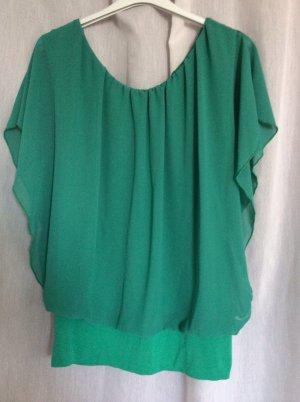 Neues stylisches Chiffon-Top in Smaragd-grün