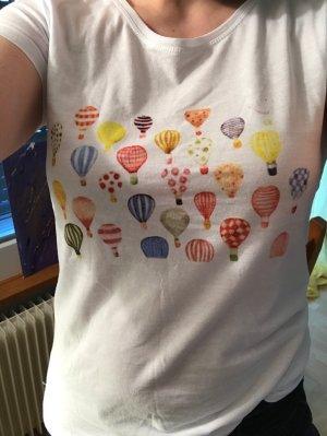 Neues T-Shirt Ballon Print 100% Baumwolle von Zauberstern