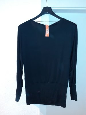 Koszula typu carmen czarny Wiskoza