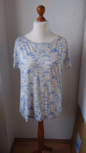 Neues T-Shirt hellblau mit hellgelb fließendes Material L