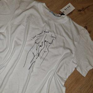 neues T-Shirt von NA-KD gr. XS weiß