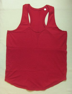 Tank Top red cotton