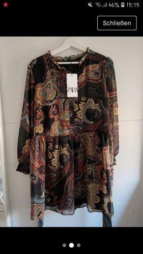 Zara Chiffon Dress multicolored