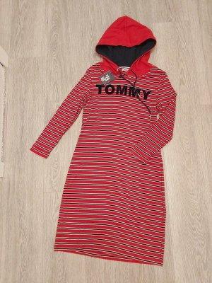 Tommy Hilfiger Robe à capuche rouge-bleu coton