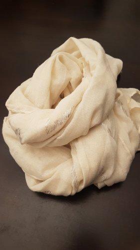 Foulard en soie argenté-beige clair