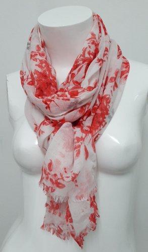 Neues Tuch von Orsay weiß rot schal großes Tuch