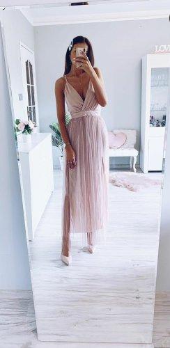 Neues Tüllkleid Spitze Lace Rose Rückenfrei Festlich Trend Blogger Musthave
