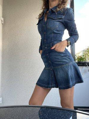 Diesel Robe en jean bleu foncé