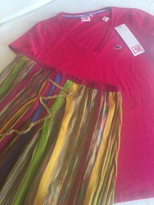 Neues V-Shirt von LACOSTE, pink, Gr. S