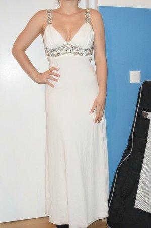 Laura Scott Evening Dress white-silver-colored mixture fibre