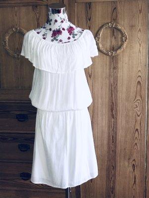NEUES weißes Off-Shoulder Kleid v. Camaïeu * Krepp Viscose Gr. 40