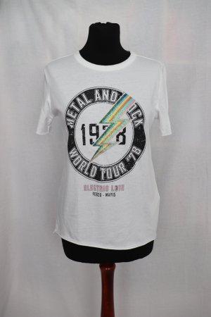 Neues weißes Shirt von Only Größe M 38 mit Glitzer