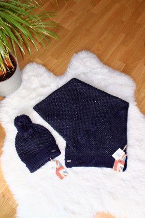 Pepe Jeans Bufanda de punto azul oscuro