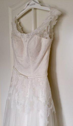 Lohrengel Vestido de novia blanco-blanco puro