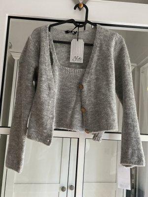 Yida Ensemble en tricot gris laine