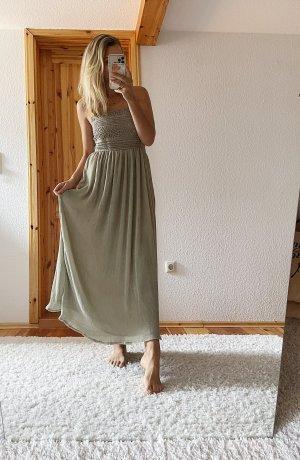 Neues ZARA Maxi langes Kleid mit Häckeltop Spitze Lochstickerei Stickerei Trend Blogger Musthave