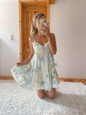Neues ZARA Minikleid Kleid kurzes Kleid Dye Batik Trend Blogger Musthave