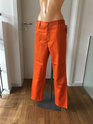 Wunderschöne leuchtend orange High-Waist-Hose * Satin * glänzend * Vintage