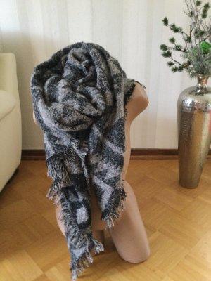 Sjaal met franjes veelkleurig Gemengd weefsel