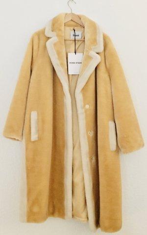 Stand Manteau en fausse fourrure jaune primevère-jaune clair tissu mixte