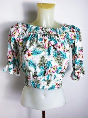 neus, ungetragenes Statement Crop-Top - Floral - Hawaii - Top- Shirt