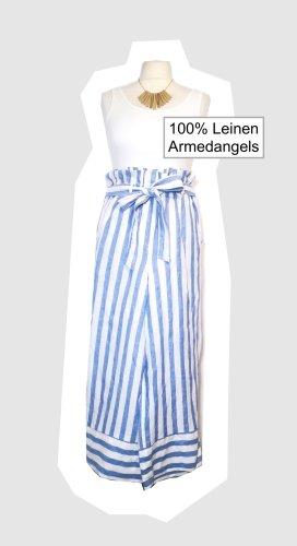 Armedangels Culottes wit-korenblauw Linnen