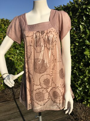 neuw. rose nude Tunika Kurzarm Kleid von Lavand in Gr. 36 - 38 S-M