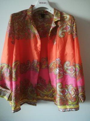 Neuw. Seidig leichtes Oberteil, leuchtende Farben, Versace aehnliches Muster, Gr. 38/40