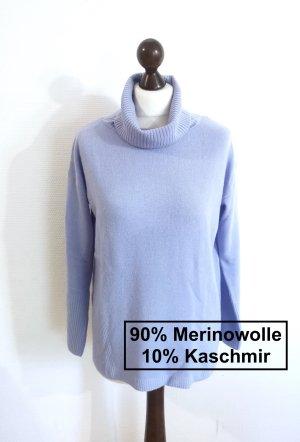 She Wełniany sweter błękitny Wełna