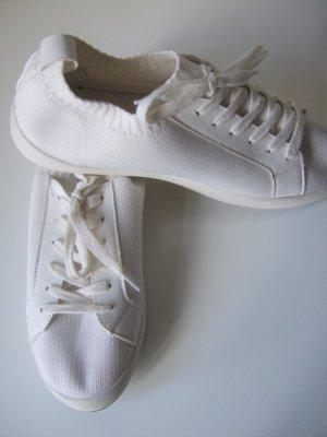 *NEUw.* Trendy Sneaker, weiß, Strick, 42, Anna Field
