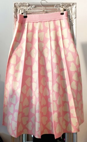 Dirndlherz Jupe tricotée rose clair-beige clair viscose