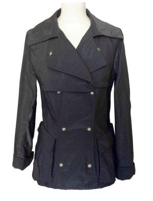 neuwertig 36 S WHITE Jacke Blazer mit Metalleffekt grau schwarz Glitzer