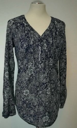 Anne L. Ruche blouse wit-donkerblauw