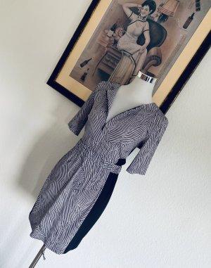 Armani Exchange Sukienka koszulowa czarny-biały