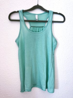 Neuwertig BELLA Top Shirt T-Shirt Größe M Türkis grün basic Damen stretch