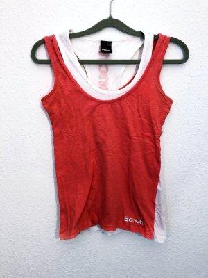 Neuwertig Bench Top Shirt Oberteil weiß Orange Größe XS Damen Neu 34,99€