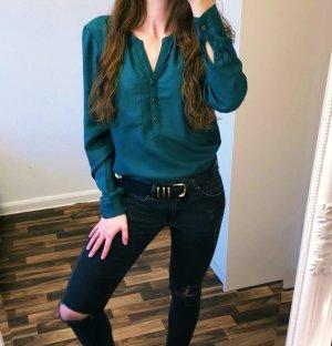 Neuwertig Bluse Shirt Langarm grün Größe S Vero Moda Neu 34,99€ Damen