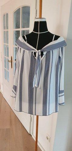 Neuwertig Bodyflirt Bluse Tunika Longshirt Top Blusenshirt 38/40 Marine
