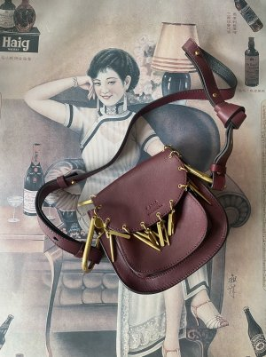 Neuwertig Chloé Charm Hudson Mini Bag Leder Tasche