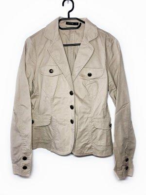 Neuwertig Comma Jacke Blazer Kostüm Größe 40 beige braun Damen Neu 89,99€