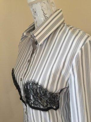 Neuwertig D&G Hemd-Bluse mit Spitzenbesatz