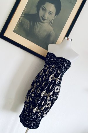 Diane von Fürstenberg Vestido de noche negro-crema