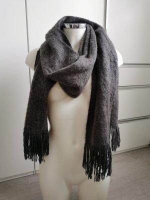 H&M Basic Bufanda de punto gris oscuro-gris antracita