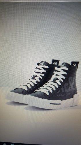 Neuwertig_DIESEL Sneakers Leder Gr. 37 schwarz