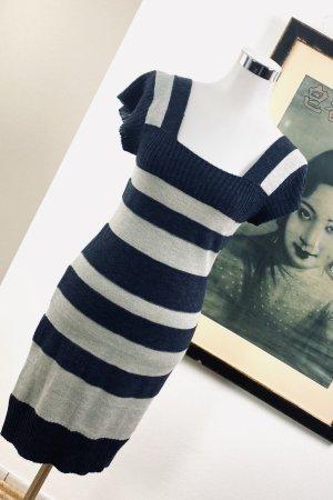 Dolce & Gabbana Abito di maglia grigio chiaro-blu scuro