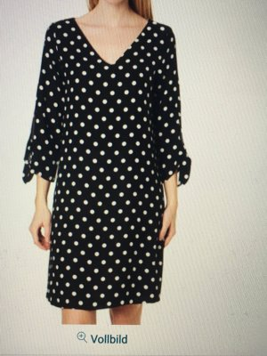 Esprit Robe tunique noir-blanc polyester